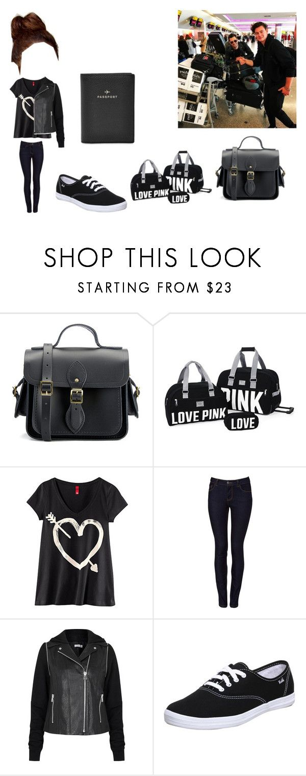 """""""Travelling with James and Jordan"""" by cavallaro ❤ liked on Polyvore featuring The Cambridge Satchel Company, Victoria's Secret, H&M, ONLY, Vince, Keds and FOSSIL"""