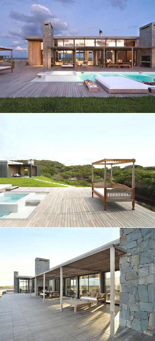 Dehors dedans terrasse beach house in uruguay by martin gomez arquitectos archi ouvertures - Maison pricila martin gomez ...