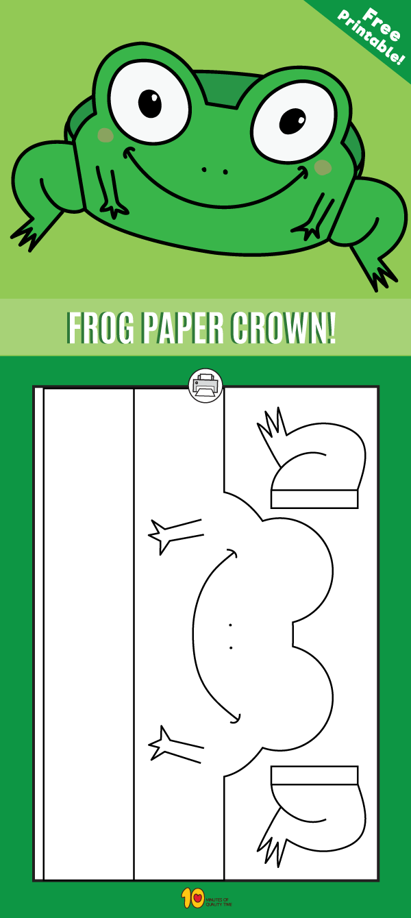 Frog Paper Crown - Printable | Paper crowns, Frogs and Crown
