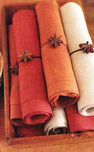 Diy thanksgiving dinner table decorations craft ideas for Diy fall napkin rings