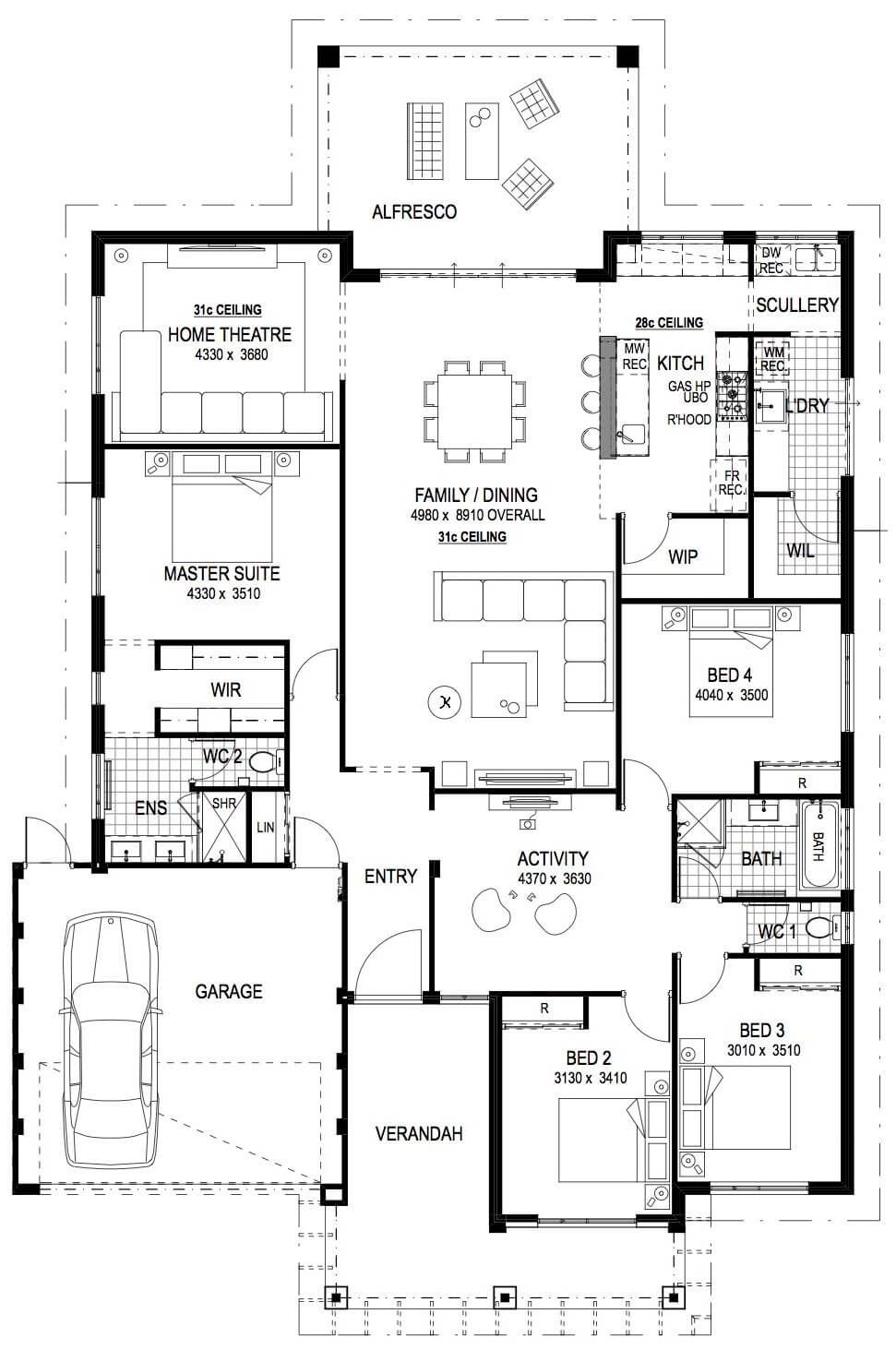 Display Homes Perth Wa Luxury Display Home Designs Impressions Modern House Floor Plans House Plans Australia Country House Floor Plan