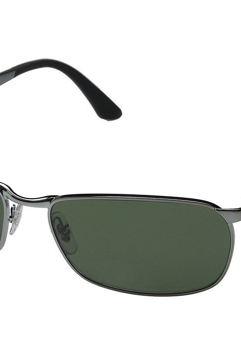 2f2addd261 Ray-Ban RB3534 62mm (Gunmetal Brushed Gunmetal Green Polarized) Fashion  Sunglasses