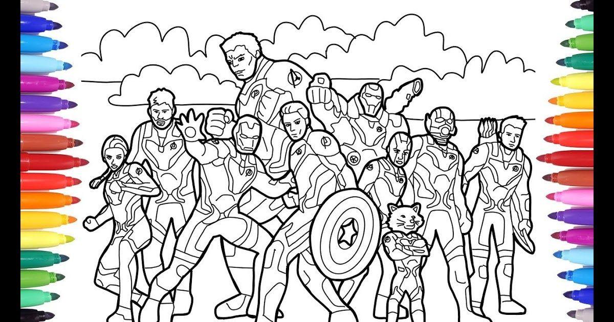 Marvel Avengers Endgame Coloring All Avengers Endgame New Avengers Endgame Coloring Page F In 2020 Avengers Coloring Pages Superhero Coloring Pages Avengers Coloring