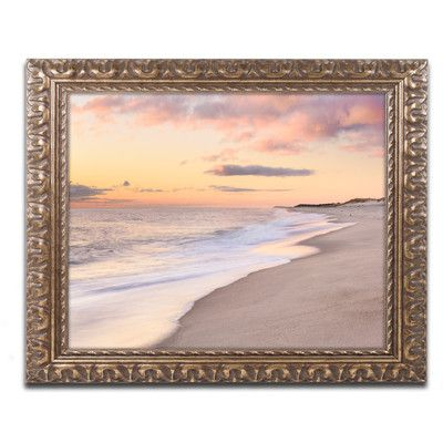 """Trademark Art 'Tide Line' by Michael Blanchette Framed Photographic Print Size: 16"""" H x 20"""" W x 0.5"""" D"""