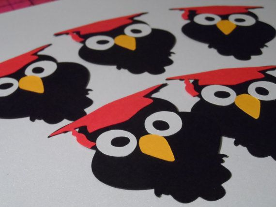 Wise Owl   Graduation   decoration   die cut   by RUBY6000 on Etsy