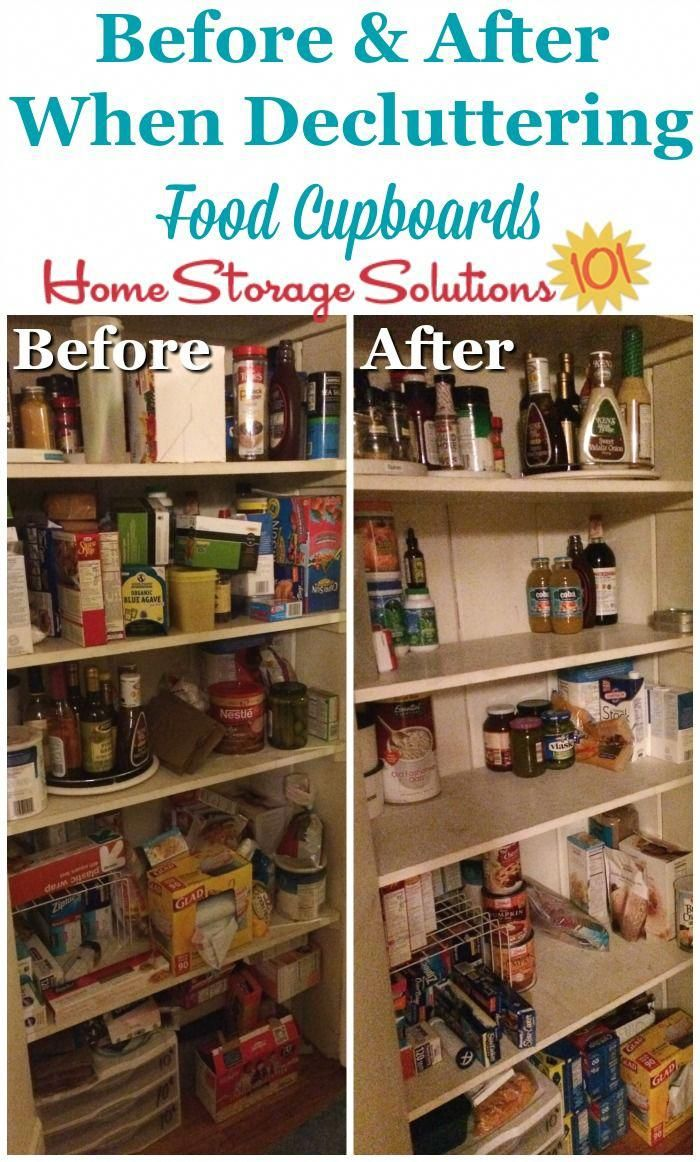 before and after when decluttering food storage areas pantries and food cupboards on home on kitchen organization before and after id=78821