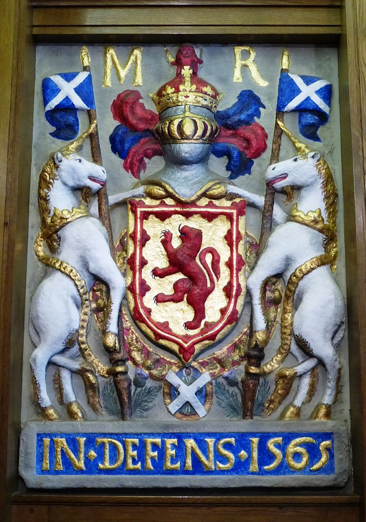 The Heraldic Arms Of Mary Stuart Formerly Incorporated Into Leith