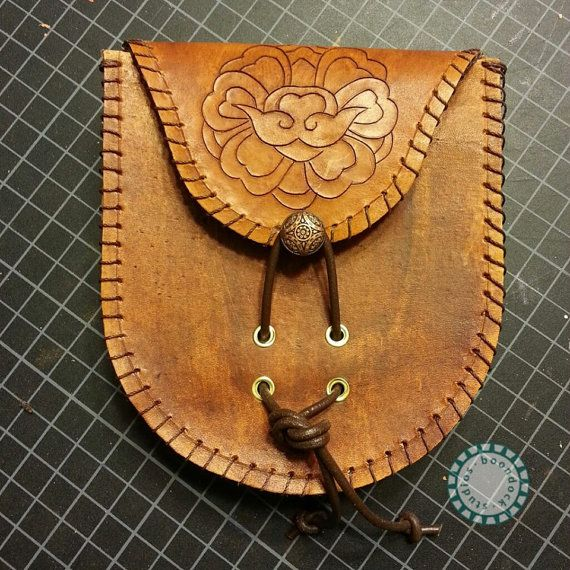 Lotus Carved Belt Bag  Ready to Ship by BoondockStudios