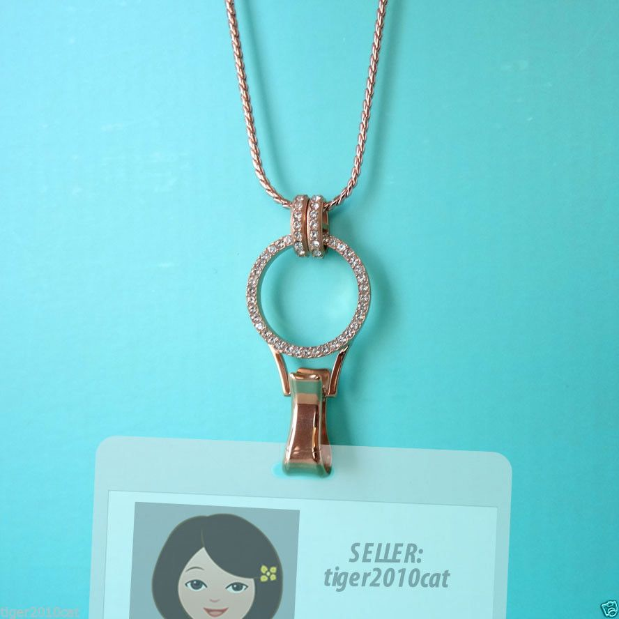 "Origami Owl Rose Gold Eternity Lanyard with Swarovski Crystals+30"" Lanyard Chain #origamiowl #Chain"
