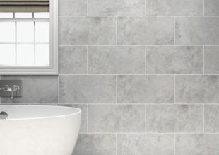 wickes kensington grey stone effect ceramic wall tile 600x300mm