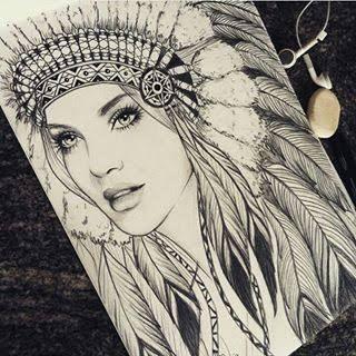 Resultado De Imagem Para Desenho India Pra Tatuar Indian Girl