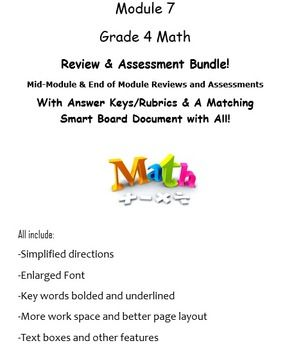 Grade 4, Math Module 7 REVIEW & ASSESSMENT w/Ans keys