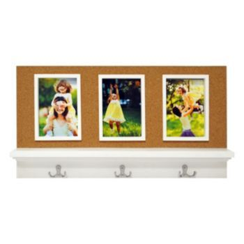 New View 3-Opening Corkboard Portrait Frame With Coat Hooks | Wish ...
