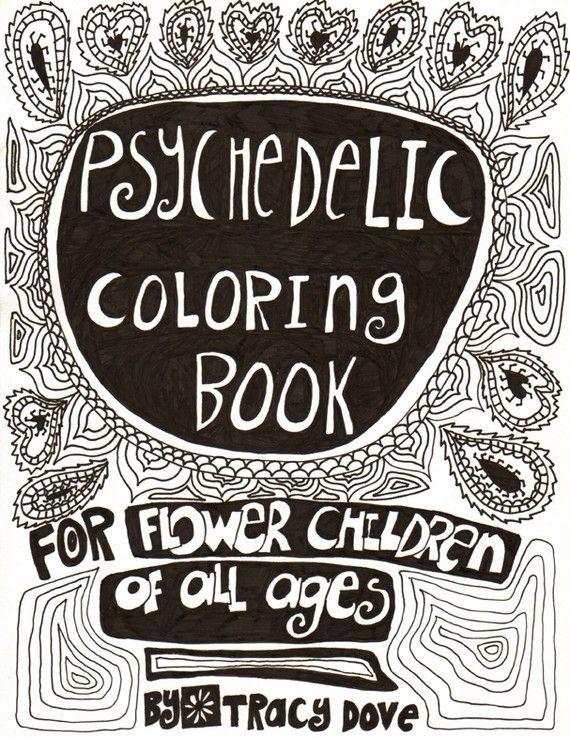 psychedelic coloring book - Psychedelic Coloring Book