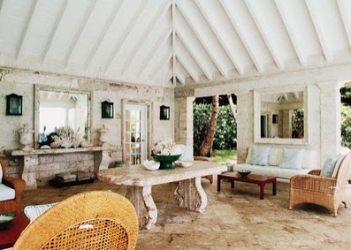 Oscar de la Renta's Colonial style home in Punta Cana, designed by Ernesto Buch