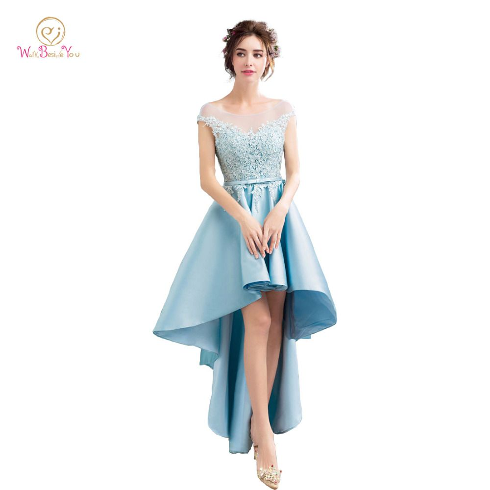 Click to buy ucuc blue vestidos para graduacion prom dress sheer