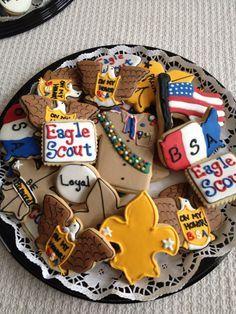 boy scout fleur de lis cookies - Google Search