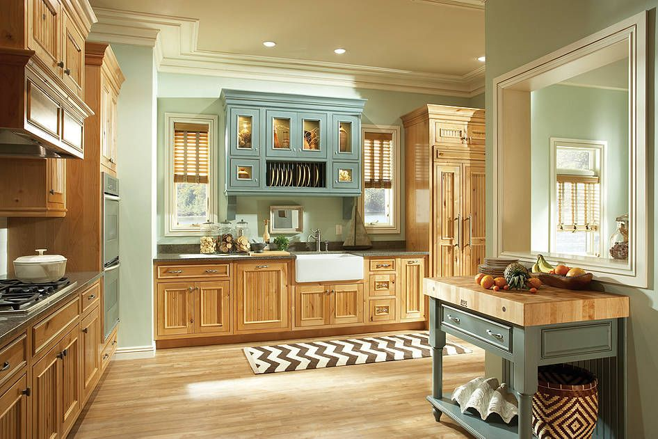 kitchen cabinets   catalina knotty alder natural and piccadilly maple islander kitchen cabinets   catalina knotty alder natural and piccadilly      rh   pinterest com