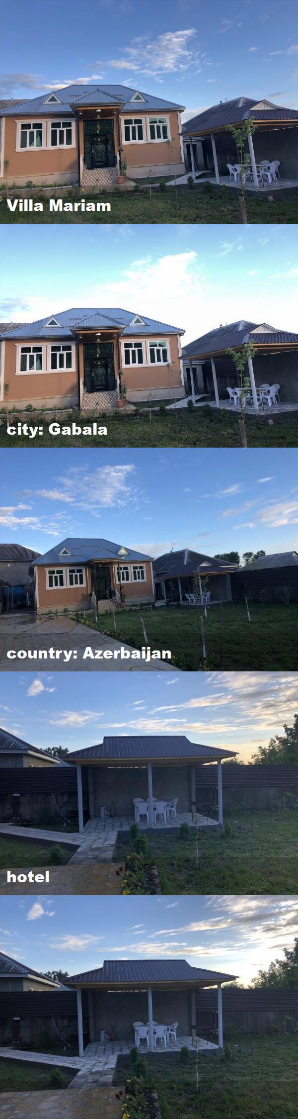 Villa Mariam City Gabala Country Azerbaijan Hotel Villa Hotel Mansions