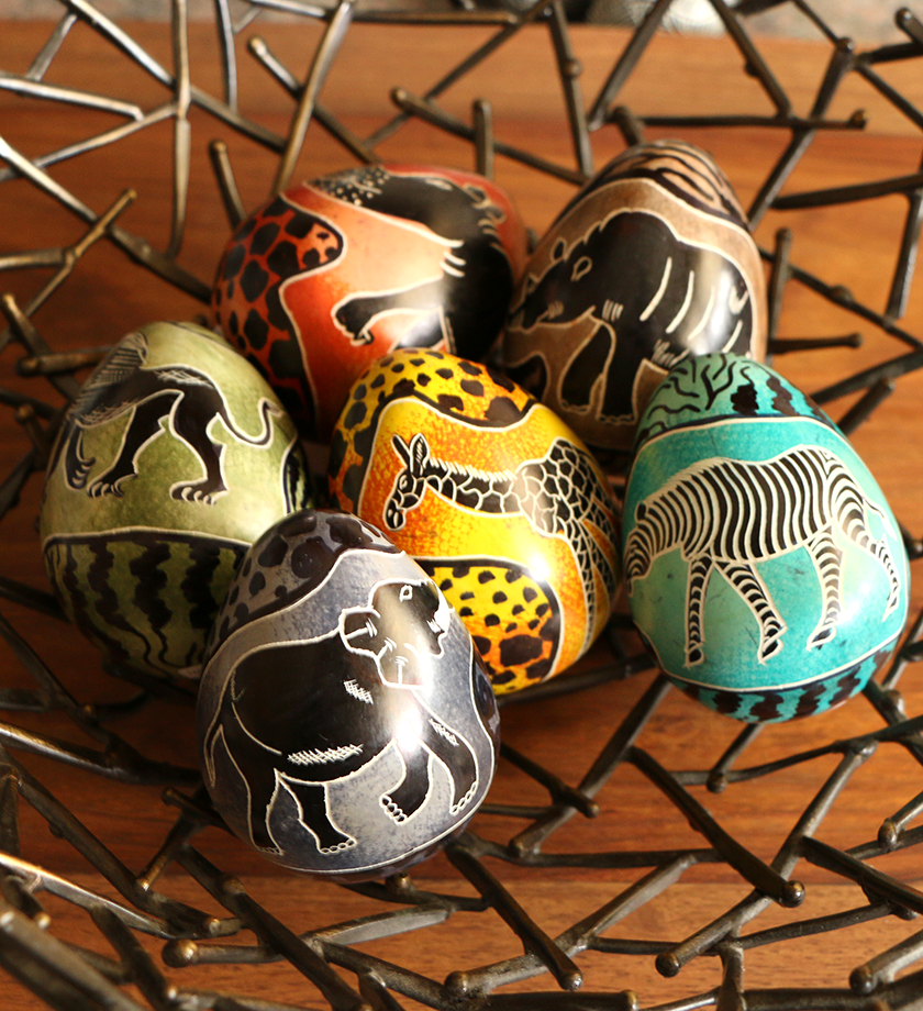Pair of african animal easter eggs easter fairtrade easter pair of african animal easter eggs easter fairtrade negle Choice Image