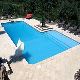 Fiberglass Pool With Tan Ledge Cost In Ground Pool Kits Pools Backyard Inground Inground Pool Designs
