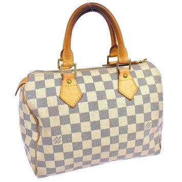 Louis Vuitton Speedy Hand Damier Canvas Fa14864 WHITE Tote Bag. Get one of the hottest styles of the season! The Louis Vuitton Speedy Hand Damier Canvas Fa14864 WHITE Tote Bag is a top 10 member favorite on Tradesy. Save on yours before they're sold out!