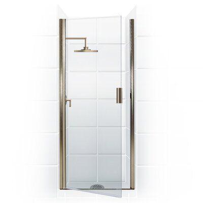 Coastal Industries Paragon Series 26 X 82 Hinged Semi Frameless Shower Door G Semi Frameless Shower Doors Shower Door Glass Types Bypass Sliding Shower Doors