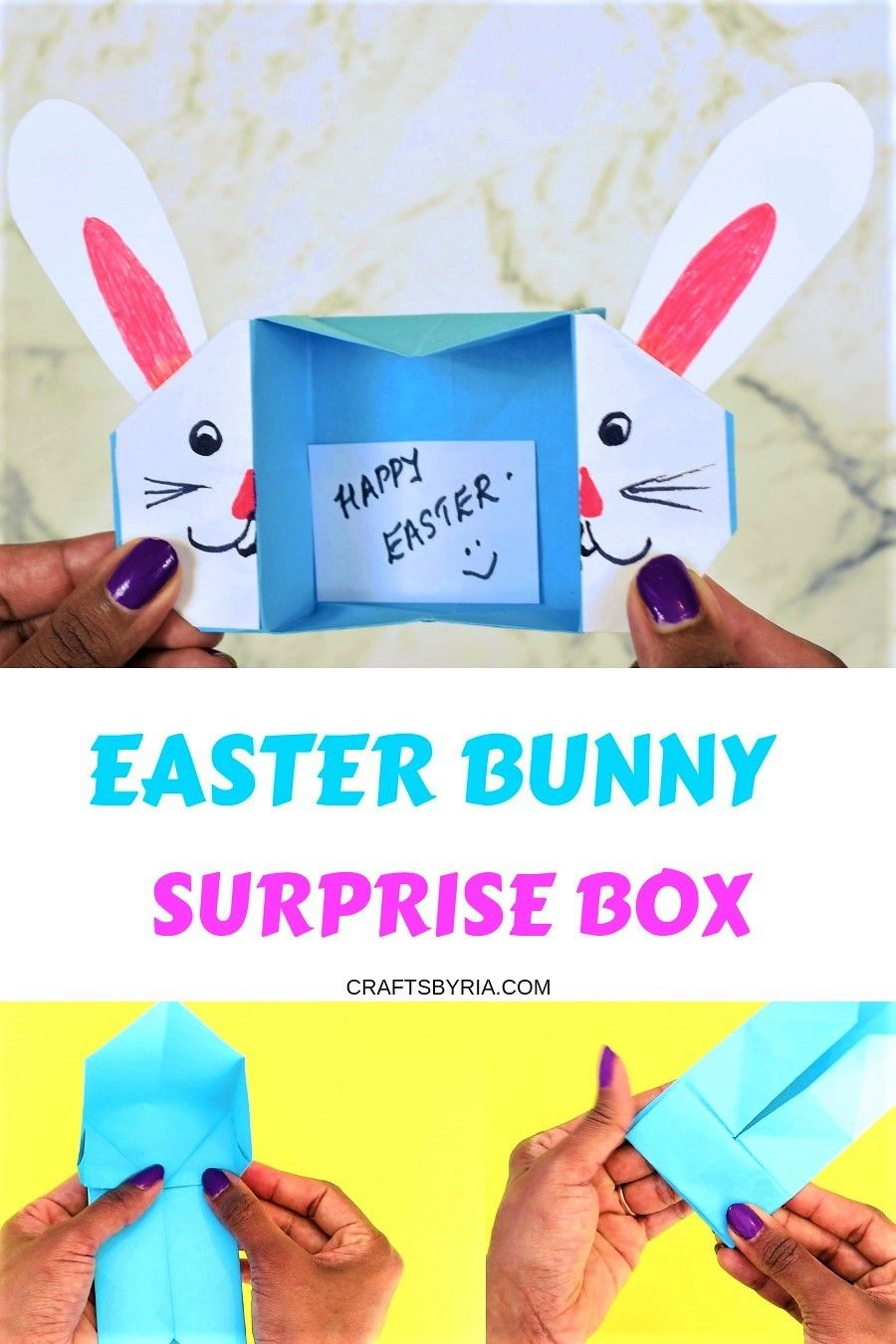 Easter Bunny Box Cute Easter Craft For Kids Easter Crafts For