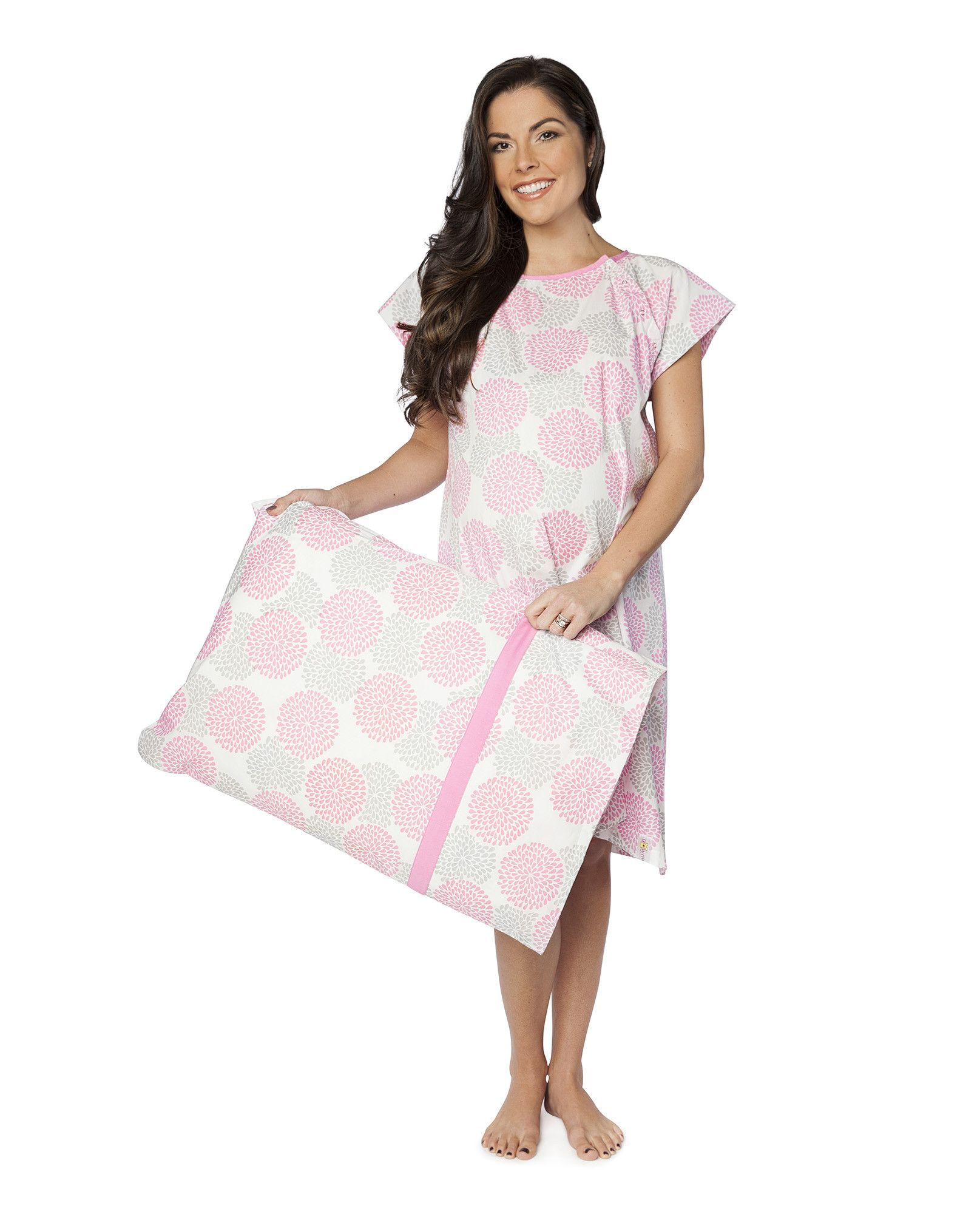 Lilly Maternity Labor and Delivery Hospital Gown Gownie & Matching ...
