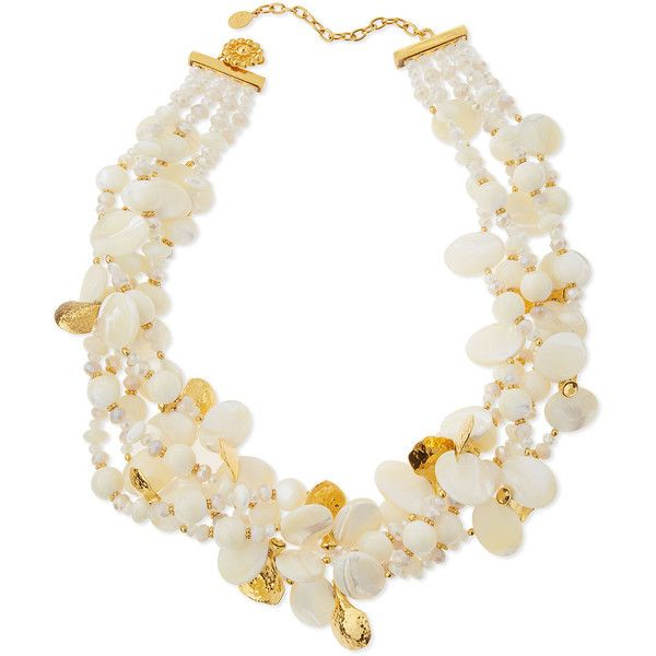 Jose & Maria Barrera Pearly Collar Statement Necklace CJXMsuCo