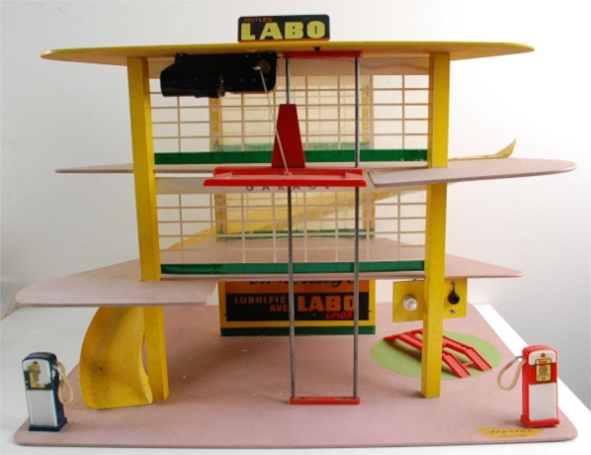 depreux esso garage 1958 station service 1 43 voiture jouet ancien tr s bon tat ebay jeu. Black Bedroom Furniture Sets. Home Design Ideas