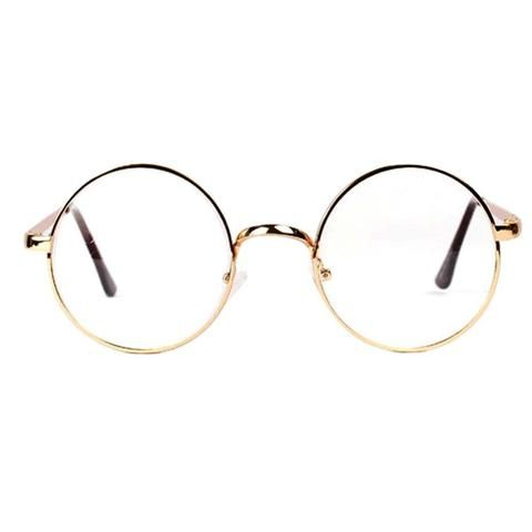 4295895d24b1 Fashion Retro Round Circle Metal Frame Eyeglasses Clear Lens Eye Glasses  Unisexmodlilj