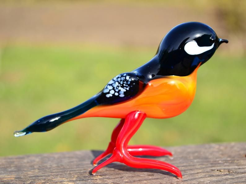 Blown Glass Bird Figurines Collectibles Christmas Tree Etsy In 2020 Glass Birds Glass Blowing Bird Decor
