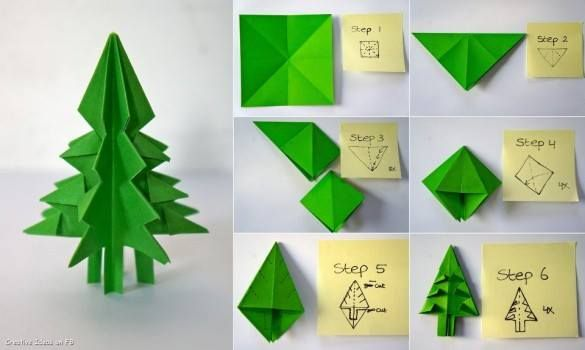 Diy Paper Craft Step By Step Tutorials Crafts Paper Crafts Christmas Origami