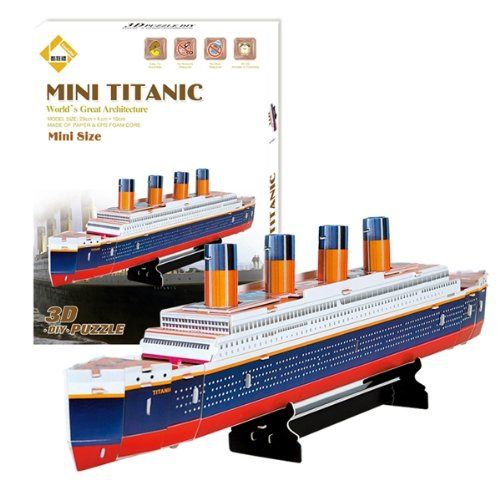 cf28da30 Educational 3D Model Movie Titanic Ship DIY Toy 30 Pcs | Products ...