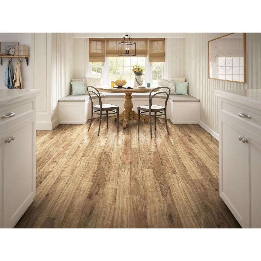 Allen Roth Handscraped Driftwood Oak 4 96 In W X 4 23 Ft L Handscraped Wood Plank Laminate Flooring Lowes Com Laminate Hardwood Flooring Handscraped Wood Weathered Oak