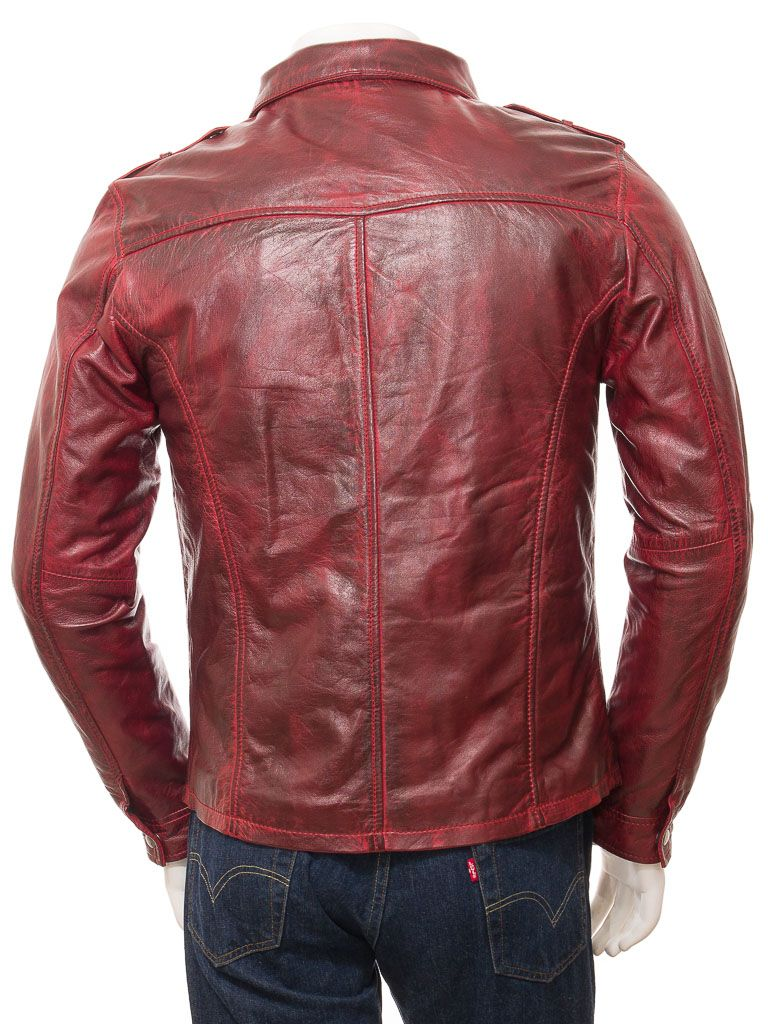 Men S Red Leather Shirt Jacket Denbury Leather Bomber Jacket Leather Shirt Leather Bomber Jacket Leather Hoodie [ 1024 x 768 Pixel ]