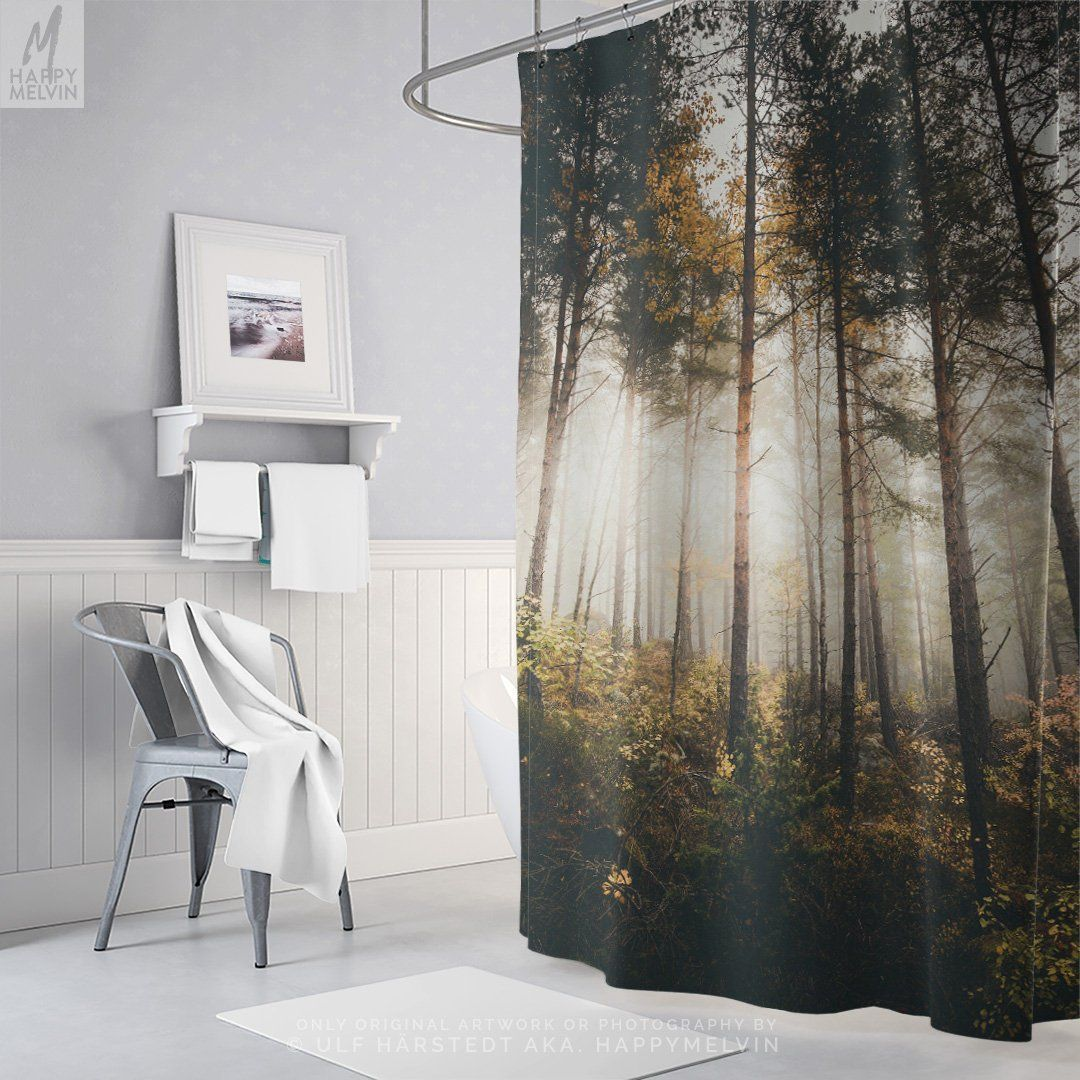 Evergreen Forest Shower Curtain Woods Bathroom Curtain Nature Bathroom Decor Dorm Decor And Home Decor Making A Wanderlust Statement Med Bilder