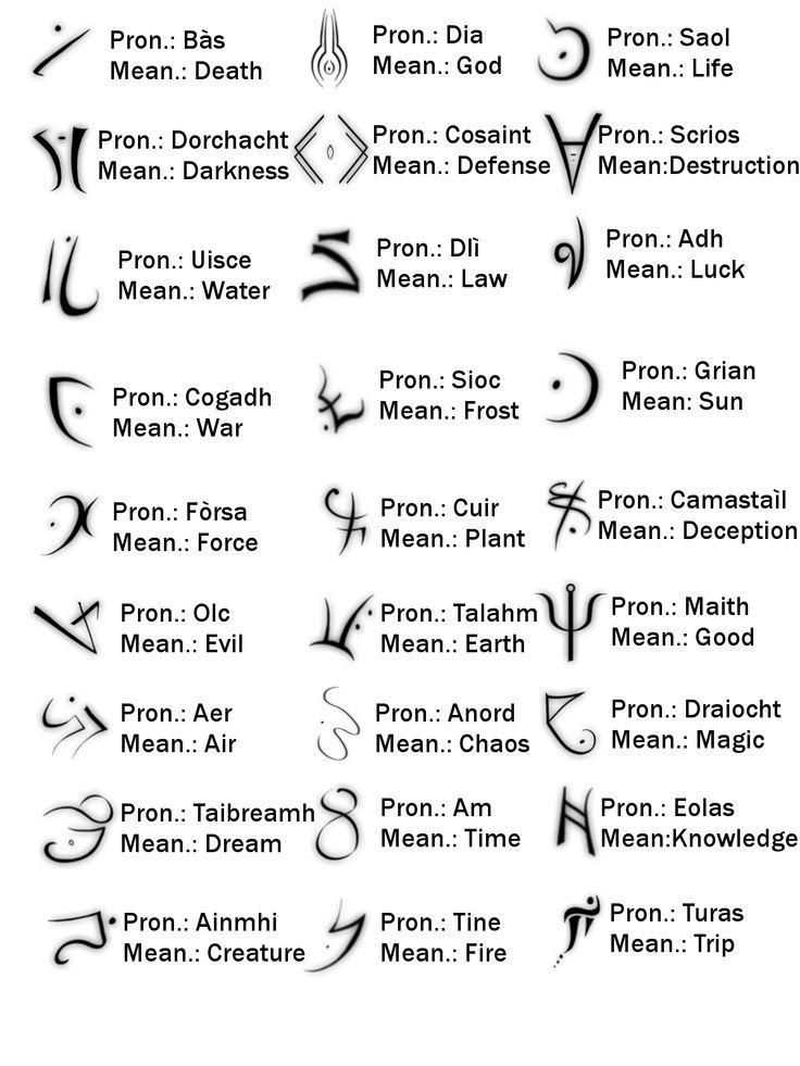 Tatts idea - glyphs -