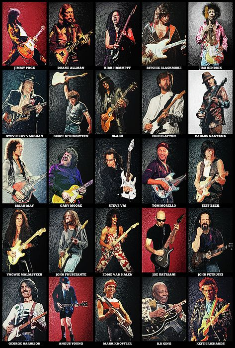 Greatest Guitarists Of All Time Tapestry for Sale by