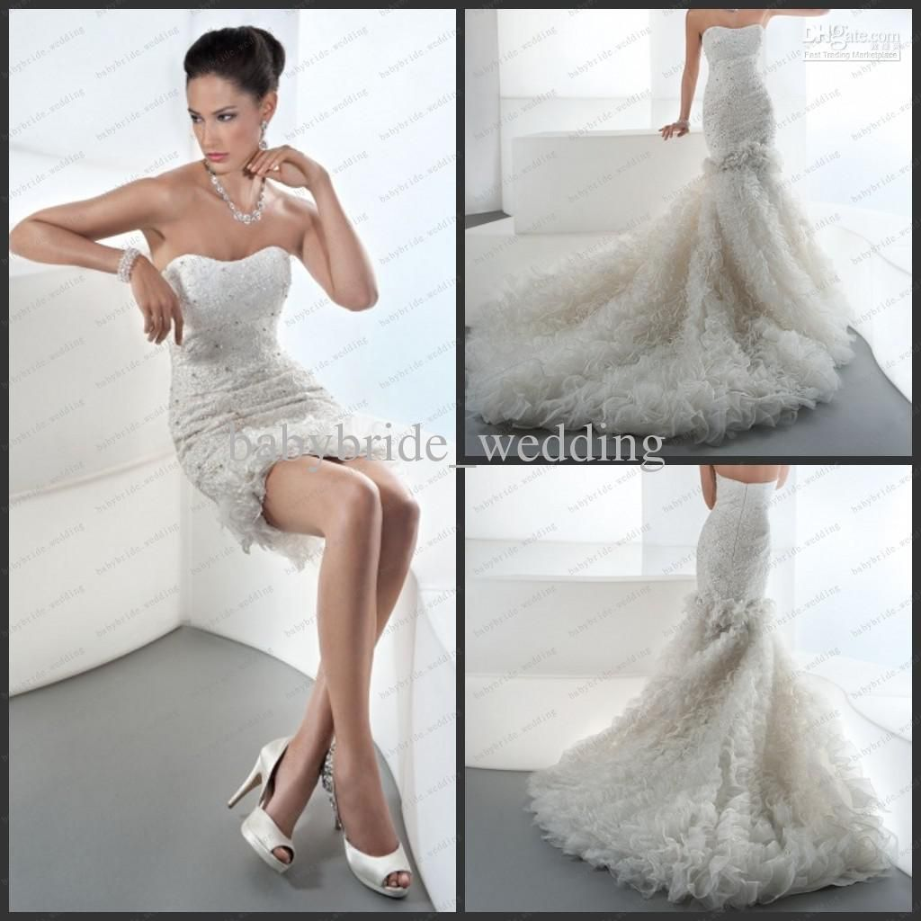 Cheap 2 Piece Wedding Dresses: Wholesale Two Pieces Wedding Dresses Removed To Reveal A