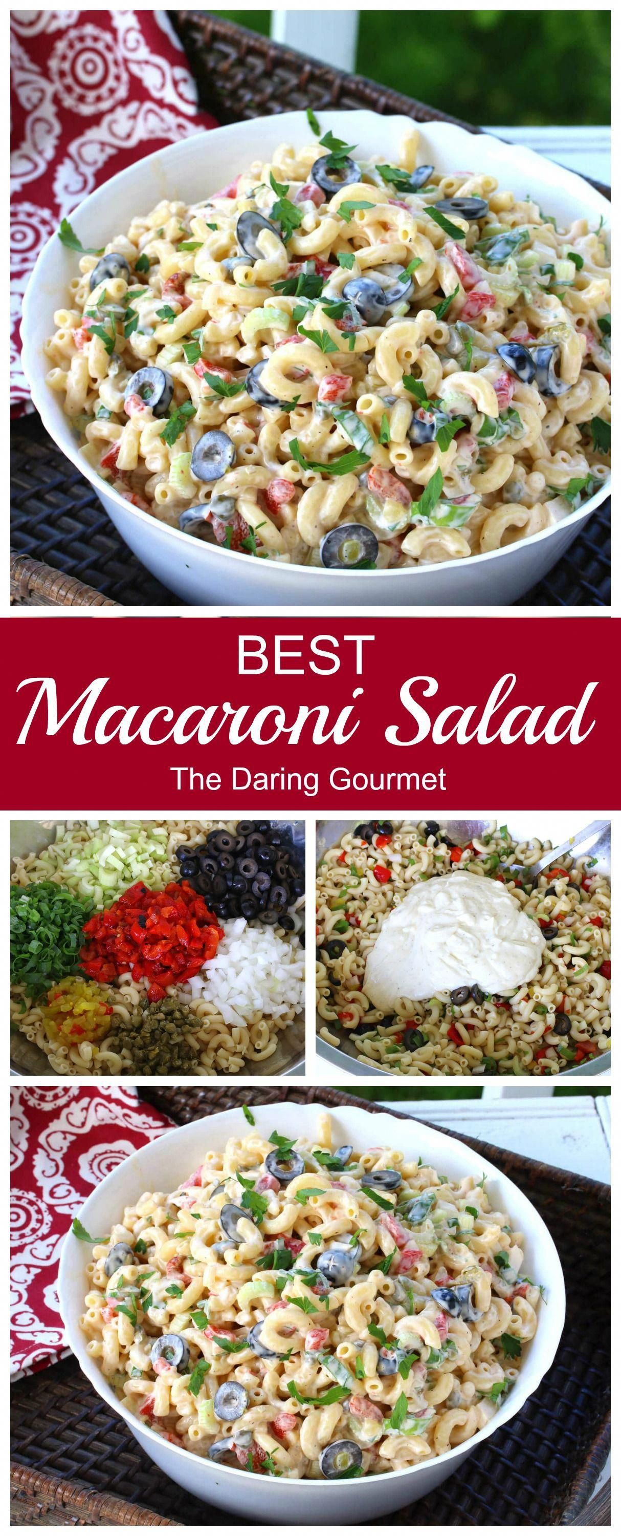 Deliciously creamy, moist, packed with flavor, the right balance of ingredients, the perfect texture, and visually beautiful, this macaroni salad is simply the BEST!