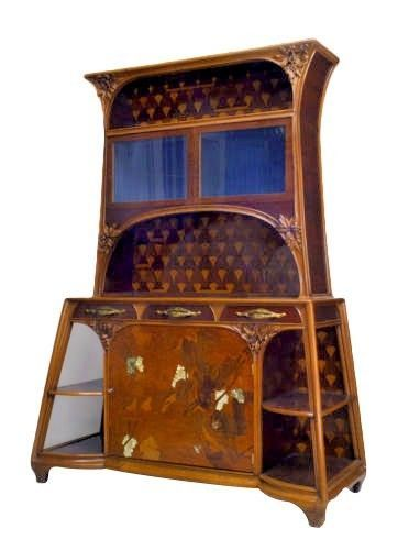 French Art Nouveau Mahogany Amp Walnut Cupboard Cabinet Art Nouveau Furniture Art Nouveau Cabinet Art Deco Furniture