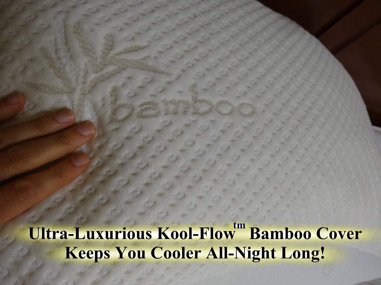 Amazon Com Snuggle Pedic Ultra Luxury Bamboo Shredded Memory Foam
