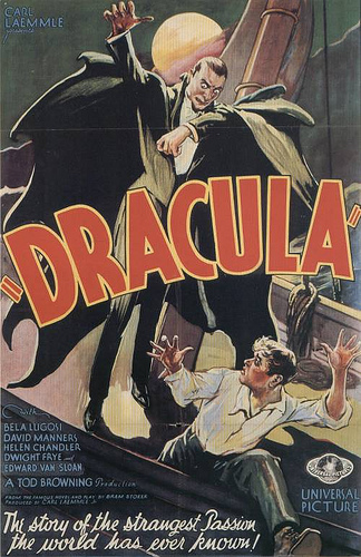 Vintage horror poster - Dracula 1931