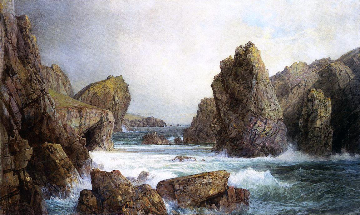 Rocky Inlet By William Trost Richards Canvas Art Print