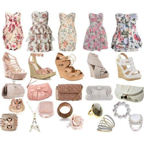 floral dress combos always will be useful