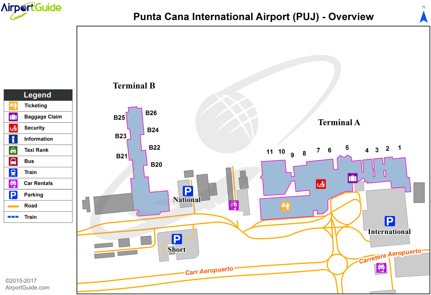 Punta Cana Punta Cana International Puj Airport Terminal Map Overview Airport Guide Airport Airports Terminal