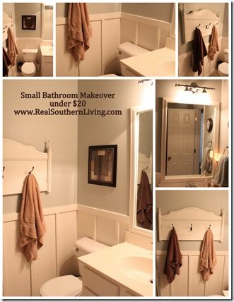Small Bathroom Makeover - Under $20 Apartment inspirations