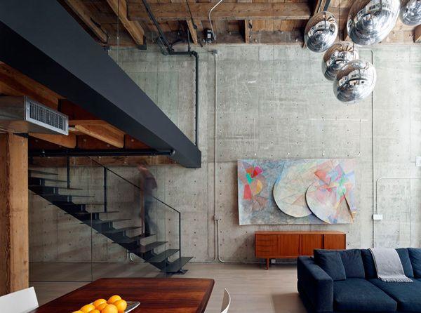Beautiful Loft Interior Design In San Francisco Warehouse Loft Industrial Living Room Design Loft Interior Design